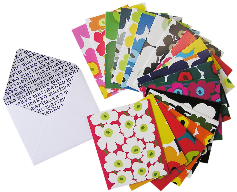 marimekko マリメッコ UNIKKO CARDS+ENVELOPES